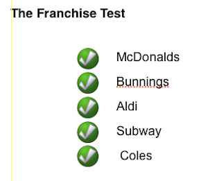 Toowoomba franchise test