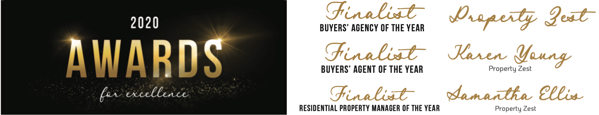 Brisbane buyers agent - 202 REIQ awards - Property Zest - Finalists
